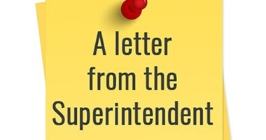 Letter from the Superintendent
